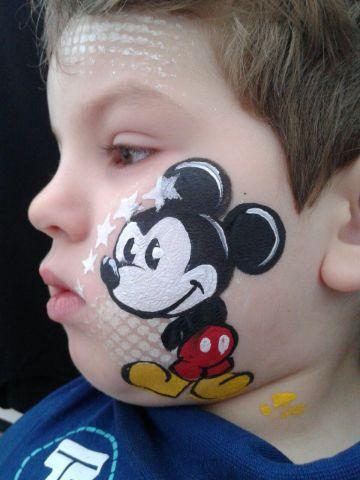 pintacaritas de mickey mouse para fiestas