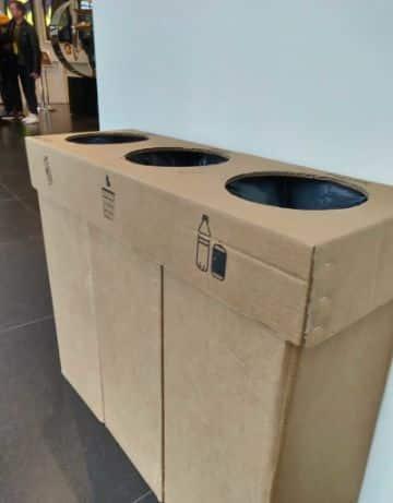 reciclar cajas de carton grandes en la casa