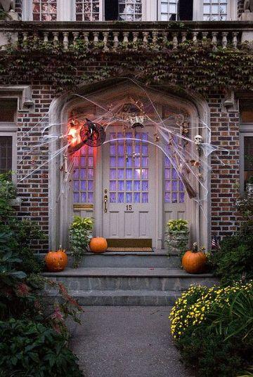 ventanas decoradas de halloween grandes