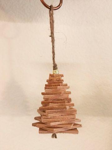 arboles de navidad artesanales con madera
