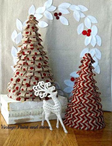 arboles de navidad artesanales con papel