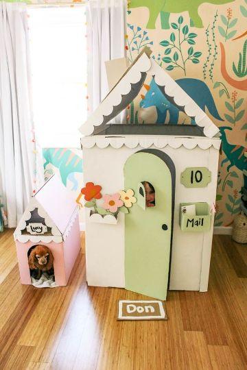como hacer casitas de carton en casa