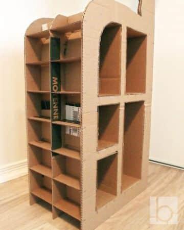 estantes de carton para niños grandes