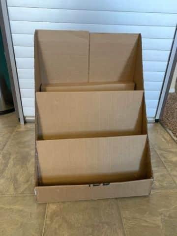 ideas para hacer estantes de carton para niños