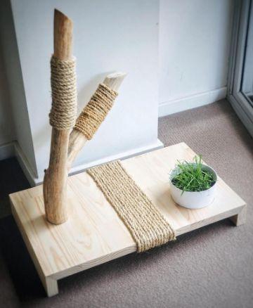 juguetes para gatos manualidades minimalistas