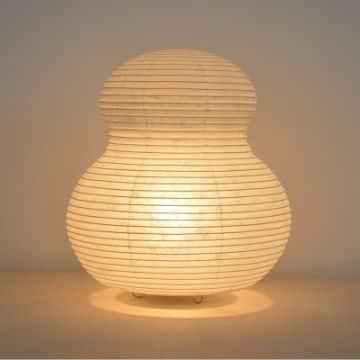 lamparas de papel de arroz sencillas
