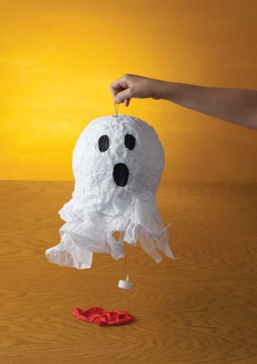 lamparas de papel mache para halloween