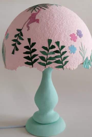lamparas de papel mache para la habitacion