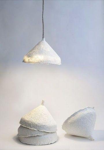 lamparas de papel mache sencillas