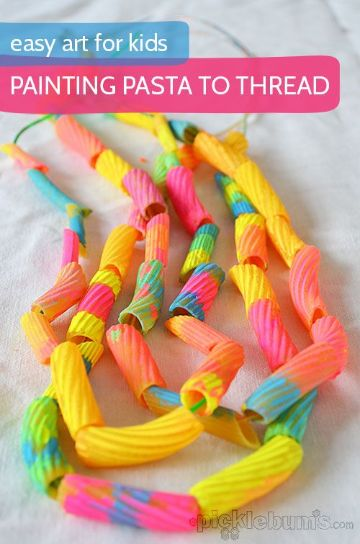 manualidades con fideos para niños sencillas