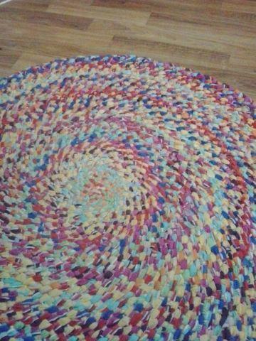 tapete con retazos de tela para sala