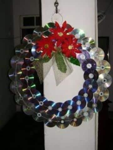 arbol de navidad con cd usados sencillos