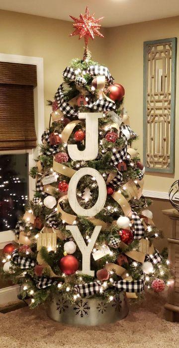 arbol de navidad con frases cortas