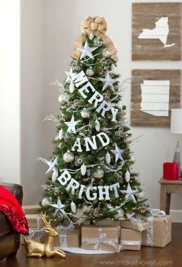 arbol de navidad con frases para decorar