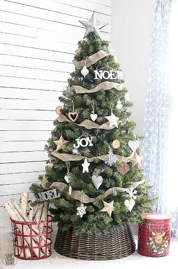 arbol de navidad con frases sencillas