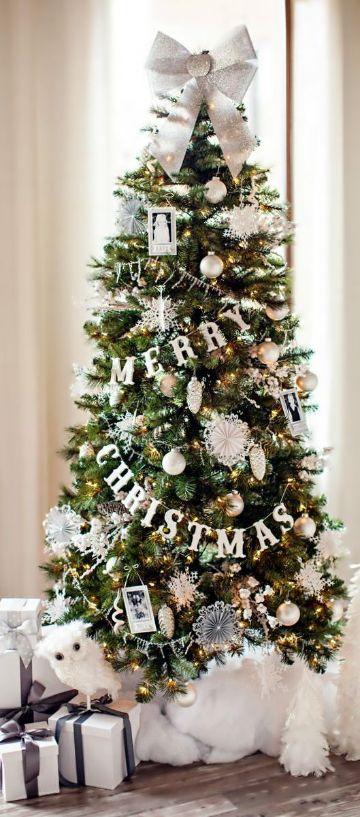 arbol de navidad con frases simples
