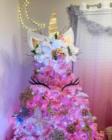 arbol de navidad de unicornio grande