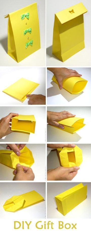 cajas de regalo hechas a mano amarillas