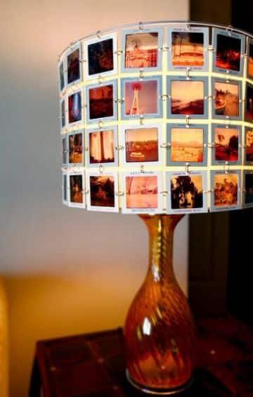 como hacer una lampara casera con fotos