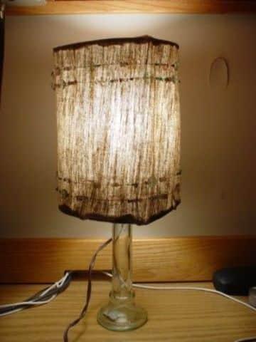 como hacer una lampara casera con tela