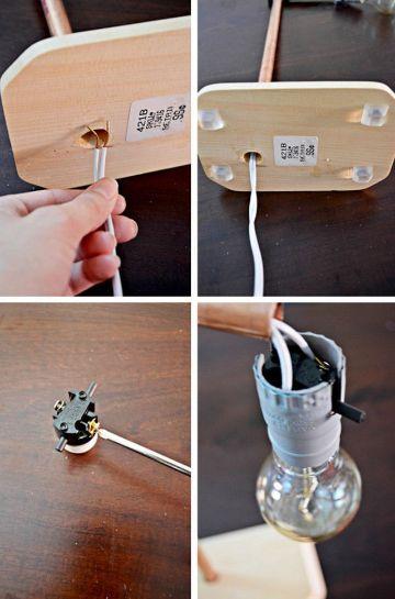 como hacer una lampara facil instrucciones