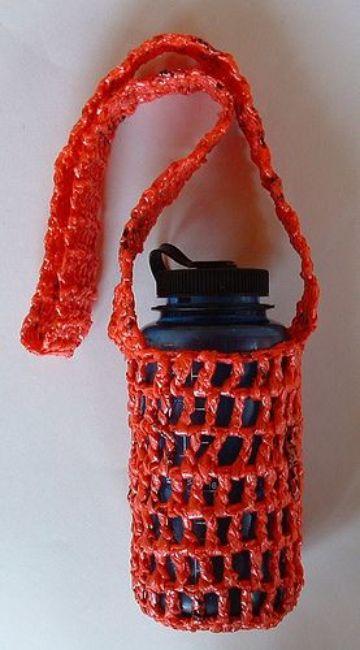 manualidades con bolsas plasticas sencillas
