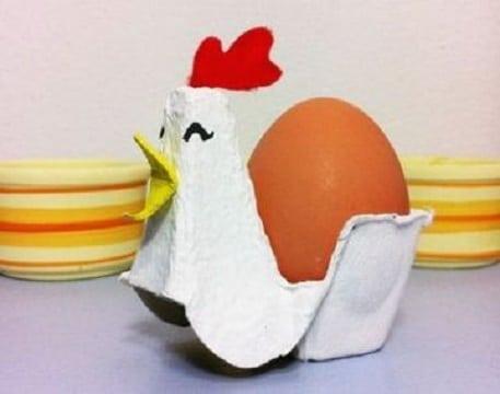 adornos con carton de huevo para la cocina