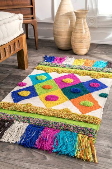 manualidades con arpillera y lana para la sala
