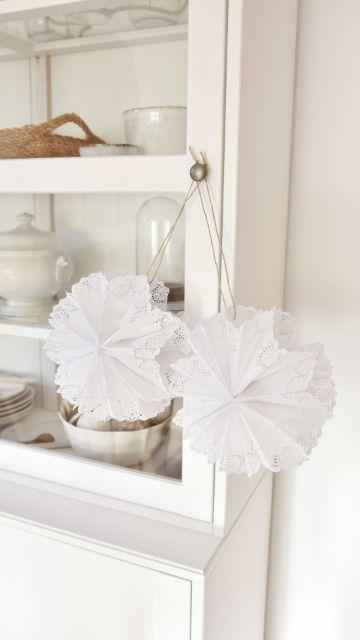 manualidades con blondas de papel para casa