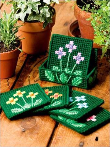 manualidades con malla plastica para decorar