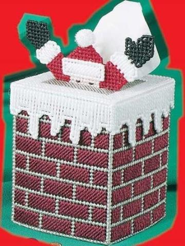 manualidades con malla plastica para navidad