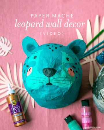 manualidades con papel mache de mascaras de tigres