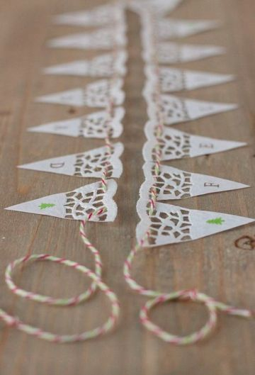 sencillas manualidades con blondas de papel