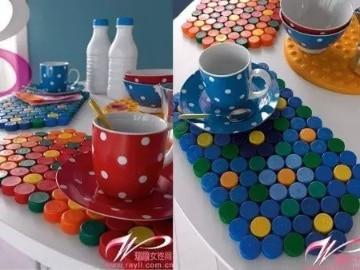 Manualidades con tapones de botellas para la cocina