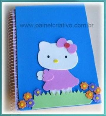 cuadernos decorados con foami para niñas