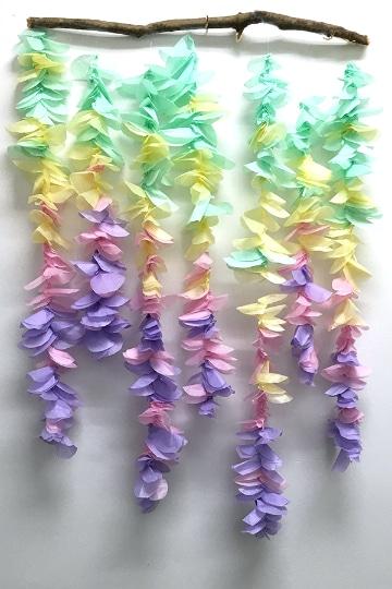 flores con papel seda hechas a mano