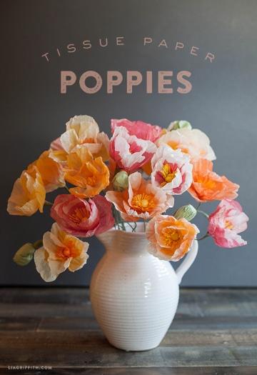 flores con papel seda parqa decorar la casa