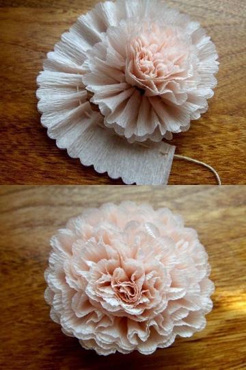 flores con papel seda paso a paso