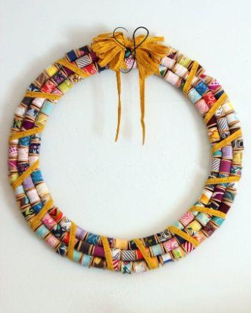 manualidades con hilo de coser para decorar