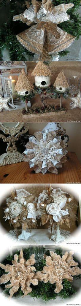 manualidades con tela de saco para decorar