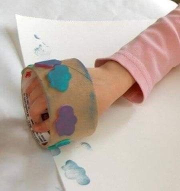 manualidades con temperas para niños ideas