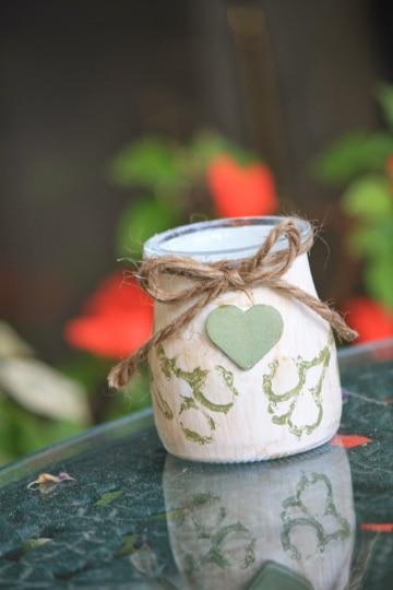manualidades con vasos de yogurt para la cocina