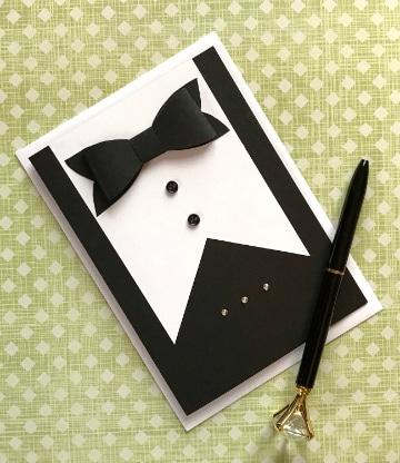 manualidades con cartulina negra tarjetas