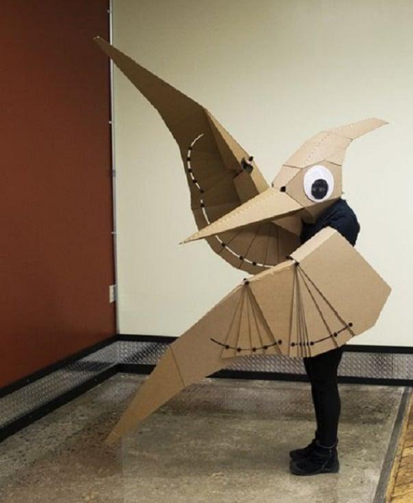animales hechos con cajas de cartón para disfraces