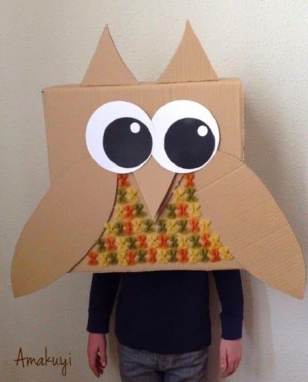 animales hechos con cajas de cartón para niños