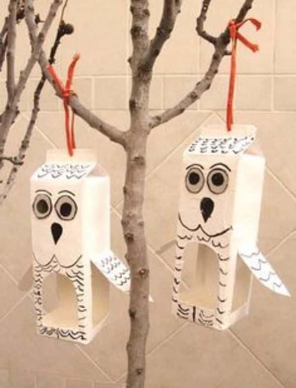 manualidades con brick de leche para decorar
