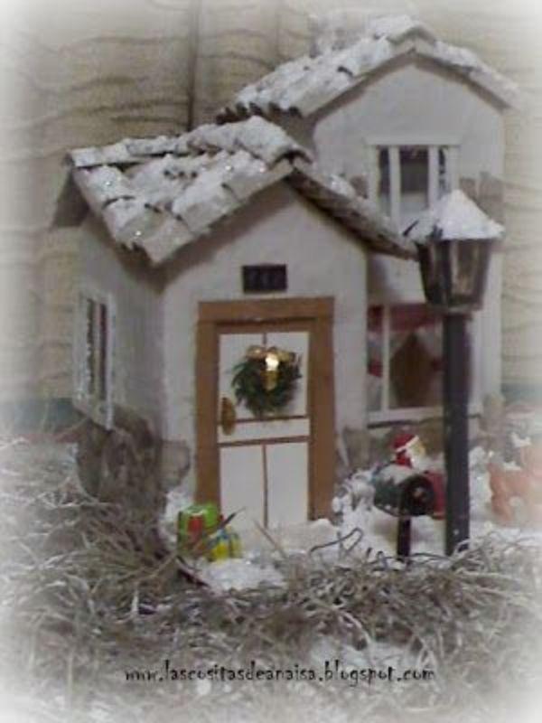 manualidades con brick de leche para navidad