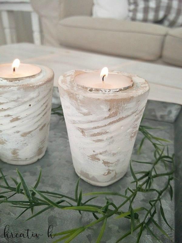 manualidades con cemento cola decorativas