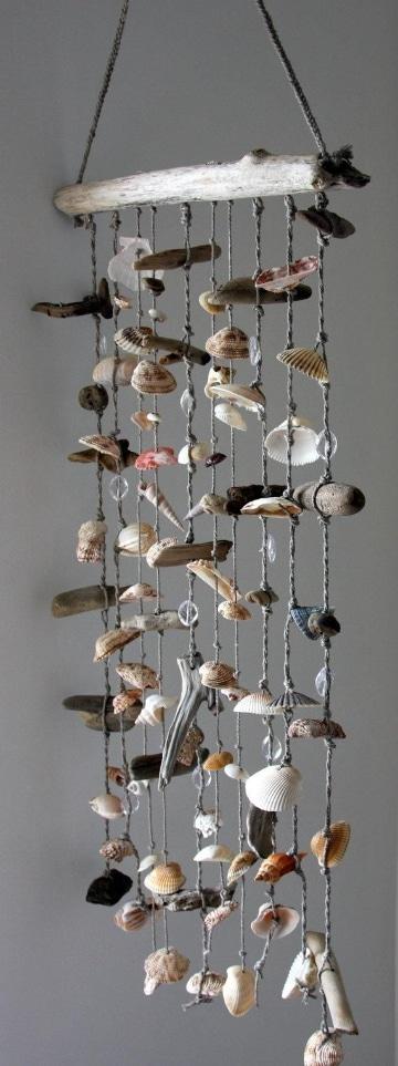 manualidades con conchillas y caracoles para decorar