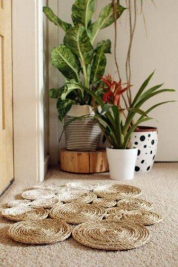 manualidades con hilo sisal para la casa
